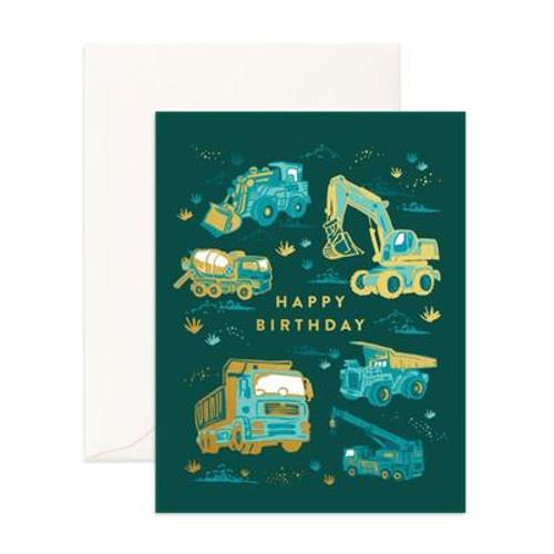 FOX & FALLOW - Happy Birthday Trucks Greeting Card