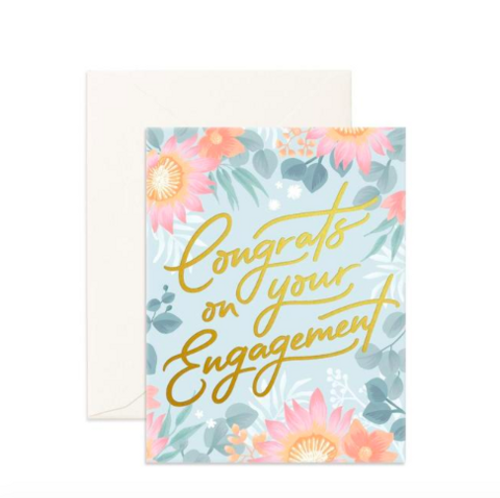 FOX & FALLOW - Congrats on your Engagement Greeting Card