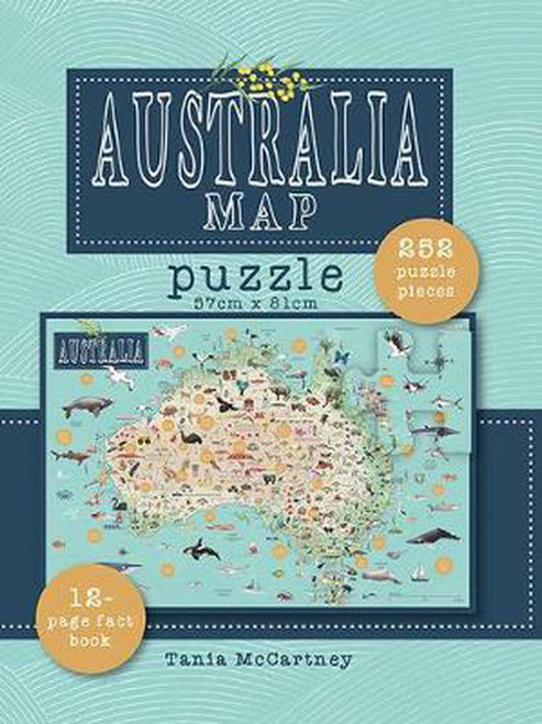 PUZZLE -  252 Piece, Australia Map Jigsaw