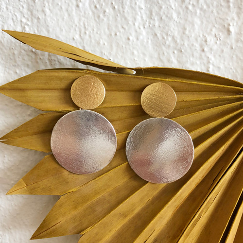 INARTISAN - ZARAA DUO EARRING - GOLD / SILVER