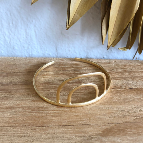 INARTISAN - ARCUS CUFF BRACLET - GOLD