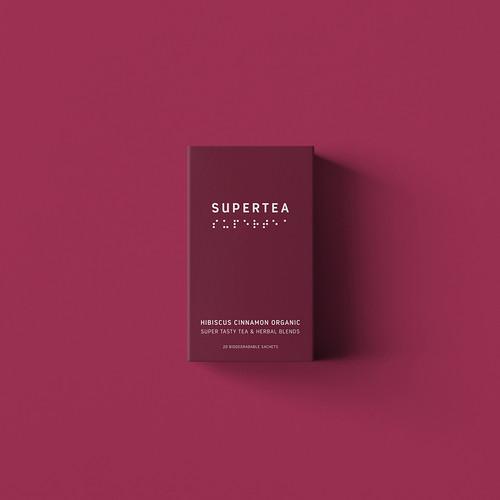 SUPERTEA -  Hibiscus Cinnamon Organic Tea