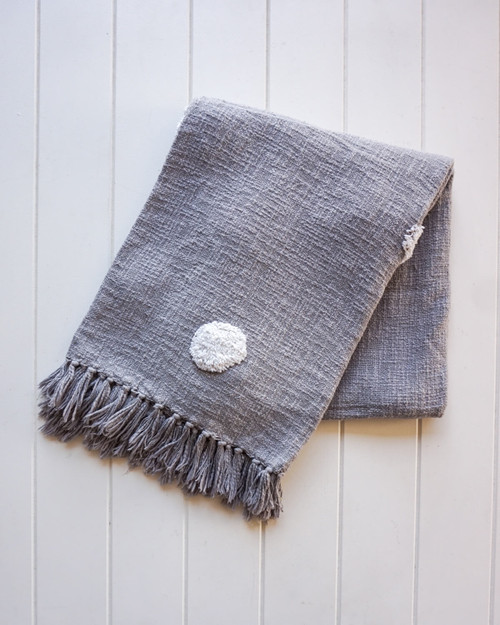 RAYELL - Throw Blanket - Belvidere in Grey
