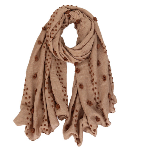 RAYELL - Scarf in Textured Tan