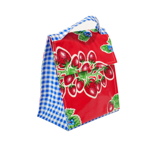 BEN ELKE - Red Strawberries Insulated Lunch Bag