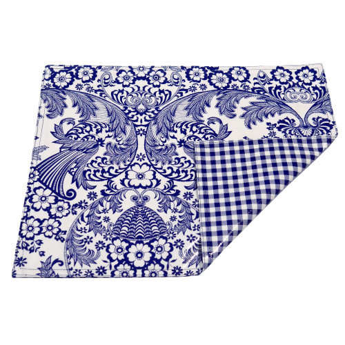 BEN ELKE - Blue Eden / Gingham Place Mats - Set of 4