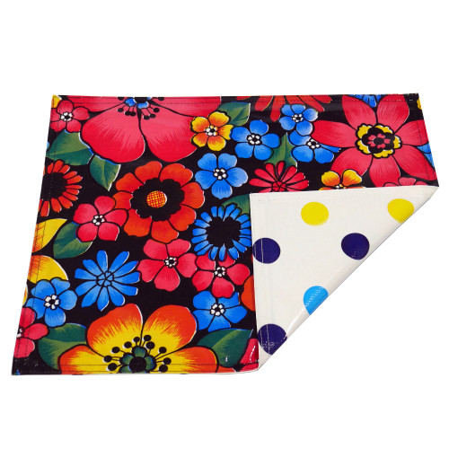 BEN ELKE - Raining Flowers / Large Spot Place Mats - Set of 4