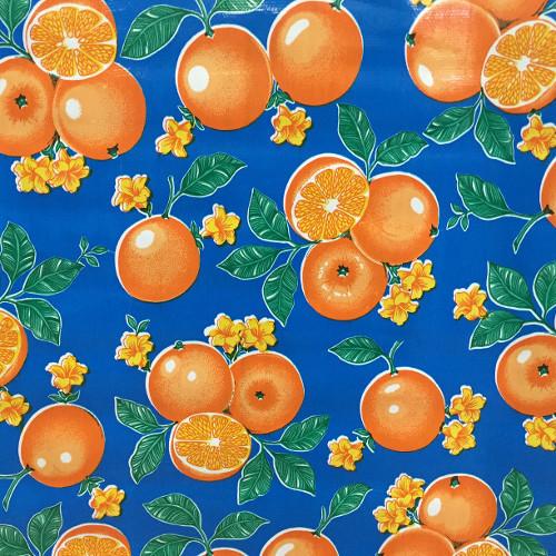 BEN ELKE - Oranges Blue Tablecloth 120cm x 120cm