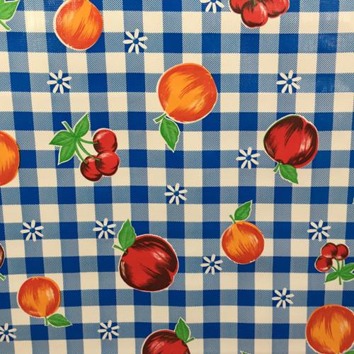 BEN ELKE - Blue Frutal Tablecloth 120cm x 120cm