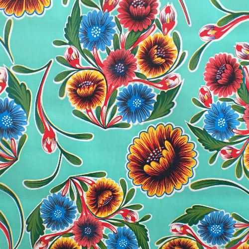 BEN ELKE - Sweet Flower Mint Tablecloth 120cm x 120cm