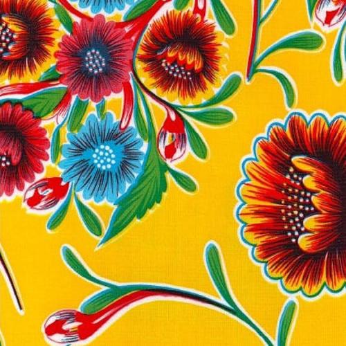 BEN ELKE - Sweet Flower Yellow Tablecloth 120cm x 120cm