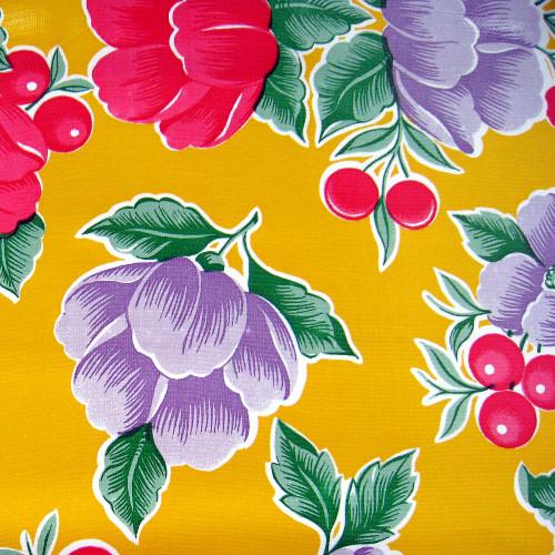BEN ELKE - Yellow Poppy Tablecloth 120cm x 250cm