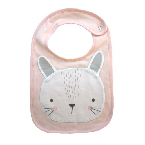 MISTER FLY KIDS - Pink Bunny Face Bib