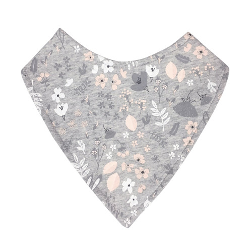 MISTER FLY - Grey Bunny Floral Dribble Bib