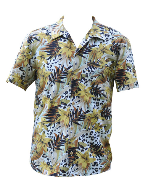 Vintage Colourful Hawaiian Leopard Print Shirt