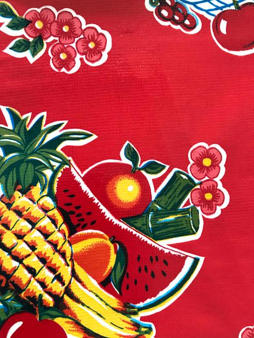 BEN ELKE - Fruit Basket Red Tablecloth 120cm x 120cm