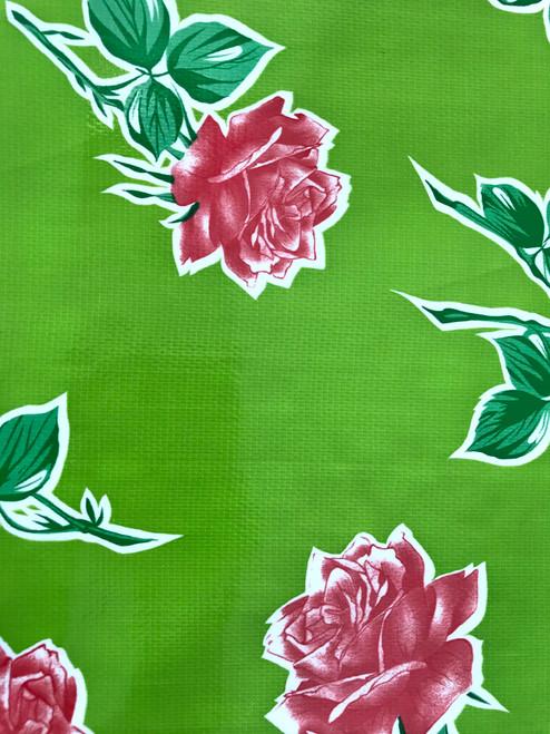 BEN ELKE - Roses Green Tablecloth 120cm x 250cm