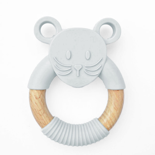 JELLYSTONE - Jellies Little Mouse Teething Toy - Grey