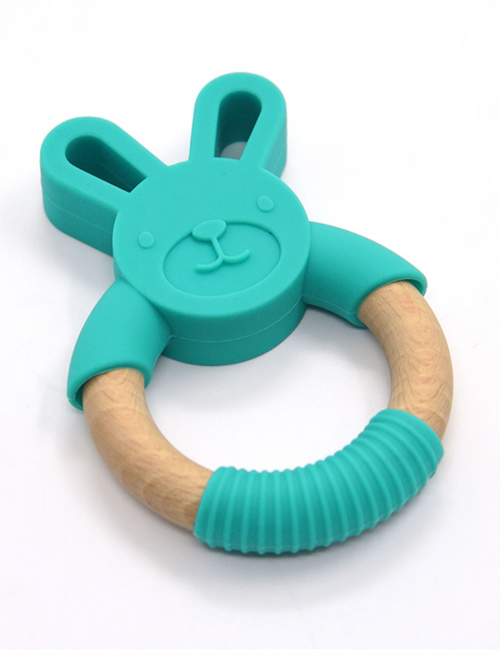 JELLYSTONE - Jellies Little Bunny Teething Toy - Bright Blue