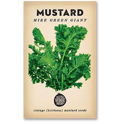 LITTLE VEGGIE PATCH CO. - Mustard 'Lime Streaks' Seeds