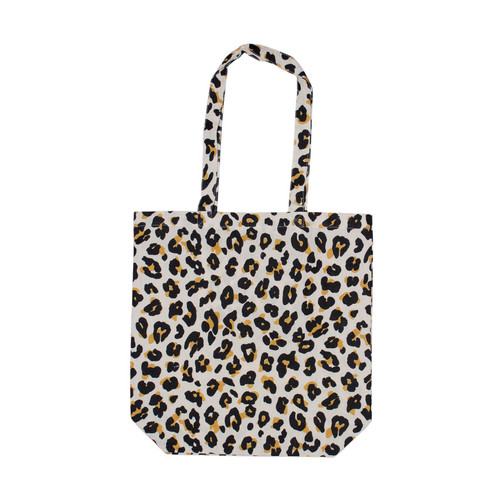 ZEST - Reusable Cotton Shopping Bag in Leopard