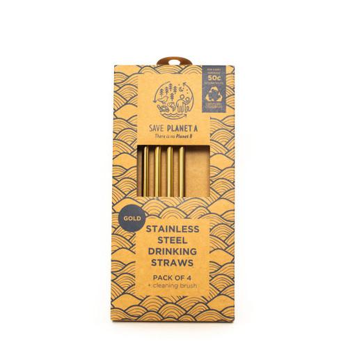 ZEST - Gold Drinking Straws 4pk