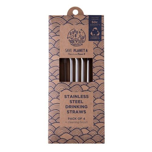 ZEST - Regular Reusable Drinking Straws 4pk