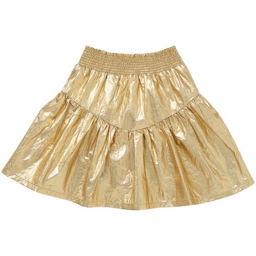 KIP & CO - Gold Foil Frill Skirt