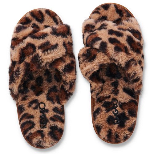 KIP & CO - Natural Leopard Adult Slippers