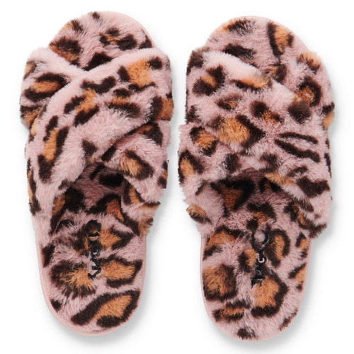 KIP & CO - Pink Leopard Adult Slippers