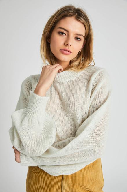 ROLLAS - Gigi Fluffy Sweater - Vintage White
