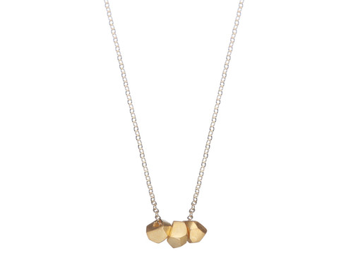 SHABANA JACOBSON - Geometric Necklace - Matte Gold