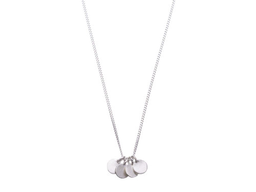 SHABANA JACOBSON - Coin Necklace - Matte Silver
