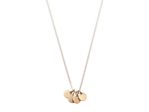 SHABANA JACOBSON - Coin Necklace - Matte Gold