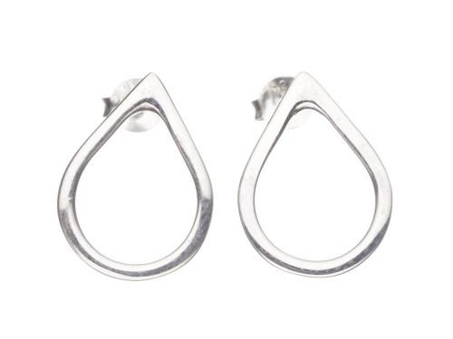 SHABANA JACOBSON -Teardrop Stud Earrings - Medium - Silver