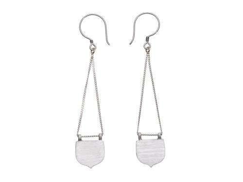 SHABANA JACOBSON - Moroccan Window Earrings - Silver
