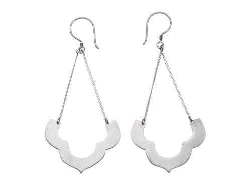 SHABANA JACOBSON - Moroccan Temple Earrings - Silver