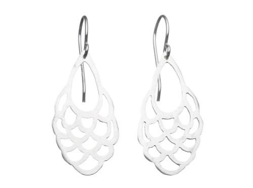 SHABANA JACOBSON - Frill Earrings - Matte Silver
