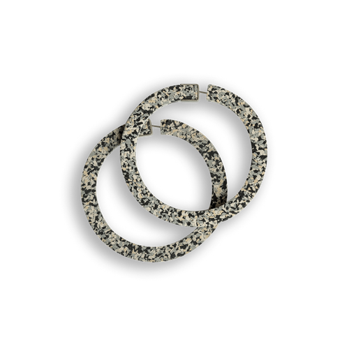 CHAMP - Superlight Hoop Earrings - Large Grey Speckle