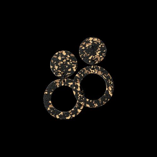 CHAMP - Penny Hoop Earrings - Large Sand Fleck