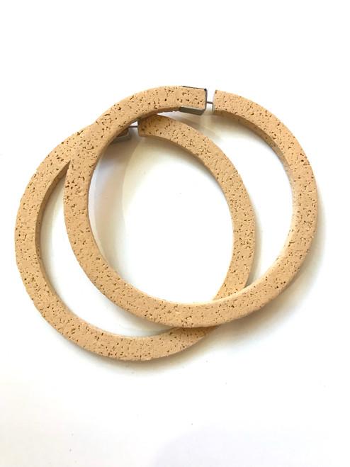 CHAMP - Superlight Hoop Earrings - Large Sand