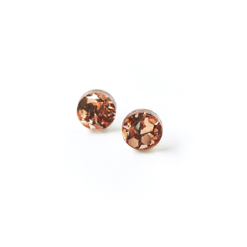 Copy of Martha Jean - Mini Circle Stud - Dusty Pink