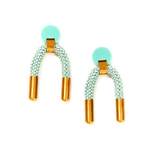 MARTHA JEAN - Iris Earrings - Sage
