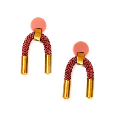 MARTHA JEAN - Iris Earrings - Blush