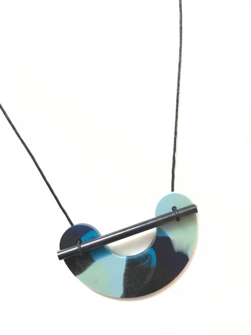MARTHA JEAN - Resin Necklace - Sea Swirl