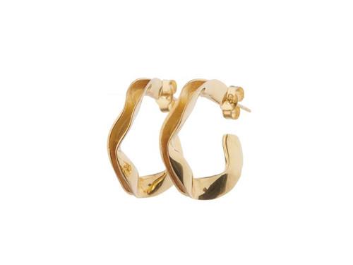 SHABANA JACOBSON - Small Ripple Hoops Gold