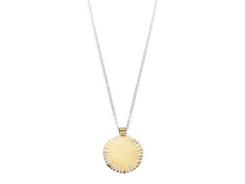 SHABANA JACOBSON - Sol Sun Slit Necklace - Gold