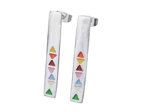 SHABANA JACOBSON - Triangle Colour Earrings