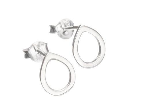 SHABANA JACOBSON - Teardrop Stud Earrings - Small - Silver