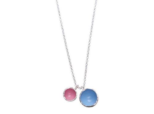 SHABANA JACOBSON - Colour Pod Necklace - Blue/Pink